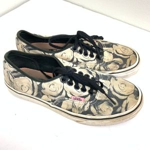Van's black Lace Rose Pattern Sneakers 8
